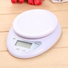 Еда баланс измерительный Вес весы Портативный 5 кг x 1 г цифровые электронные весы с ЖК-дисплеем стальные весы Кухня Весы Почтовый