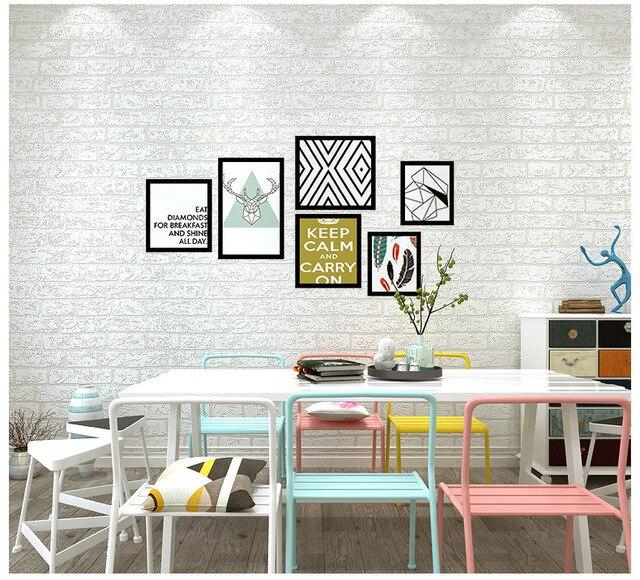 Faux Stone Brick Wall 3d Wallpaper Roll Modern Vintage Wall Paper