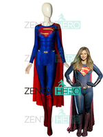 Free Shipping 3D Printed Man Of Steel Superman Cosplay Costumes Spandex Supergirl Superhero Bodysuits For Hallween With Cape