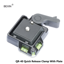 Quick Release Adapter with Two Double Insurance Button for All DSLR Camera Plate