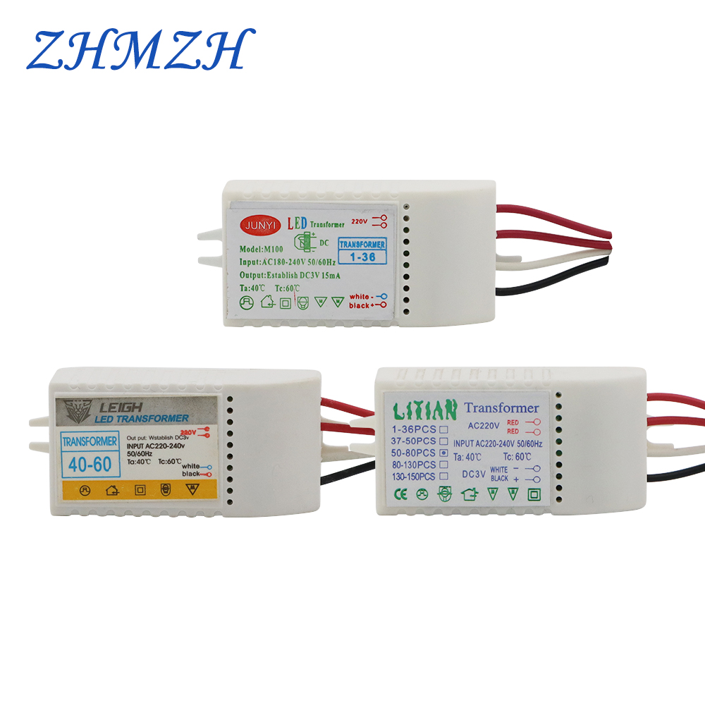 1-36pcs leds Electronic Transformer LED Controller Power Supply LED Driver 220V to DC3V 15mA Low Voltage For Straw Hat Lamp Bead