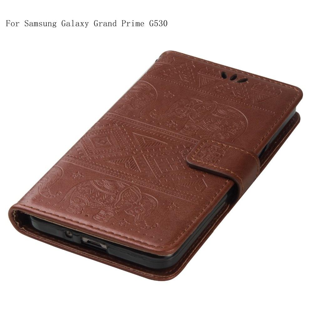 Cas de luxe Pour Coque Samsung Galaxy Grand-Premier G530 G530H G531 G531H G531F SM-G531F Portefeuille Flip Cover Avec la Carte Slots titulaire