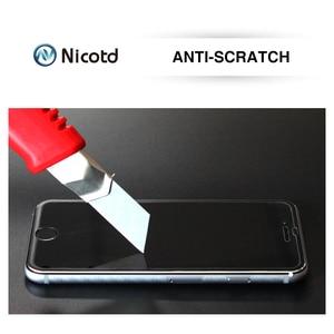 Image 4 - Nicotd 9H מסך מגן מזג זכוכית עבור HTC Desire 510 610 626 עבור HTC אחד M7 M8 M9 M10 e8 X9 A9 E9 בתוספת מגן סרט