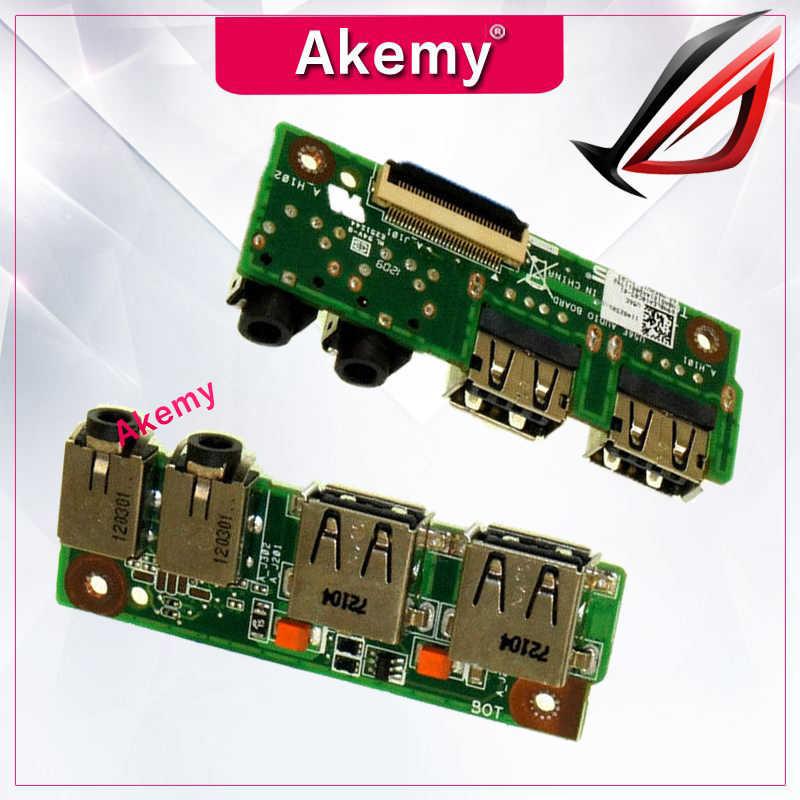 Akemy N56JK AUD IO لوحة لأسوس N56 N56VB N56VZ N56V N56VJ N56VM N56J N56JN N56JK N56JR USB IO لوحة AUD IO لوحة