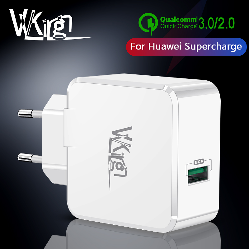 VVKing For Huawei SuperCharge USB <font><b>Charger</b></font> Fast Charging EU US Plug For iphone Samsung Xiaomi <font><b>mi</b></font> 9 Quick Charge 3.0 Super <font><b>Charger</b></font> image