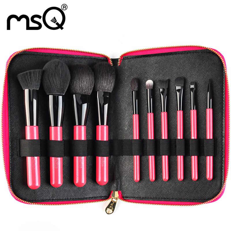 Makeup Brushes Set Professional Makeup Brush Sets Classic Soft Goat Hair Brushes Kit 10PCs Cosmetic Brushes Kits For Make-up Hot free shipping durable 32pcs soft makeup brushes professional cosmetic make up brush set