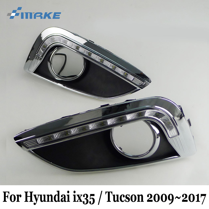 SMRKE DRL For Hyundai ix35 / Tucson 2009~2017 / Car LED Daytime Running Lights & Cornering Signal Lamp / Car Styling