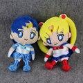 27 cm Sailor Mercury Sailor Moon Tsukino Usagi Lindo Juguete de Felpa Suave Muñeca de Peluche de Anime Japonés Regalos de Colección Para Los Niños