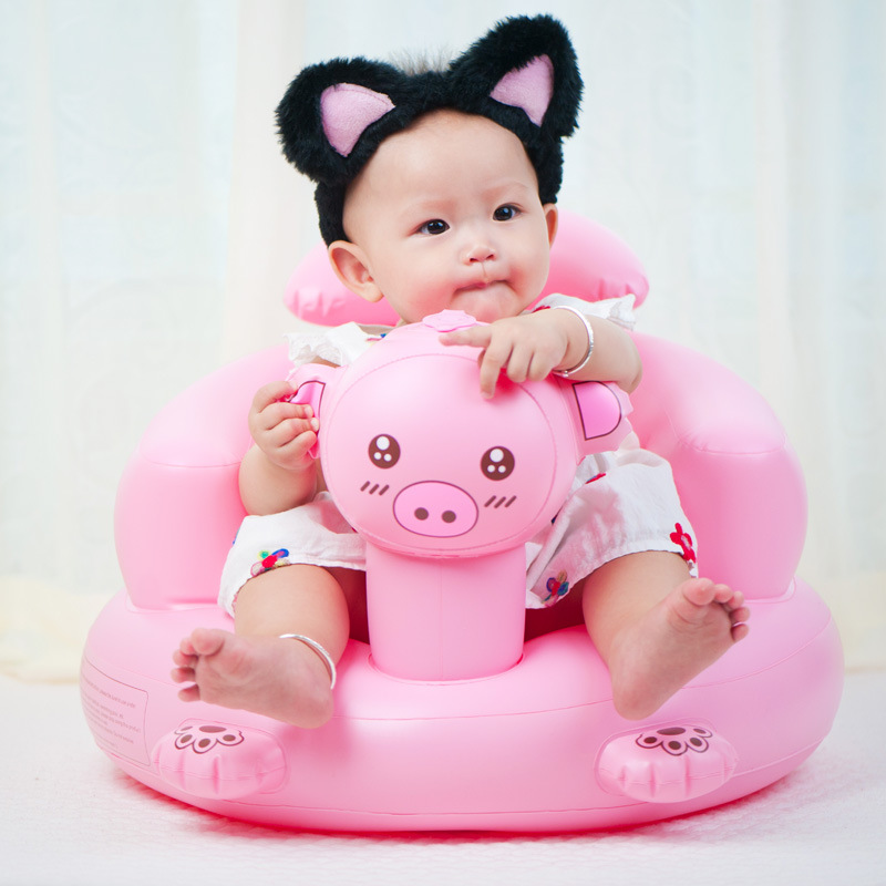Baby Sofa Inflatable Learn stool Training seat Cute Float Inflatable Chair Baby Toys Ani ...
