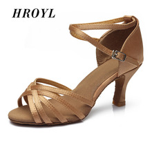 Free Shipping Brand New Women's Tango Ballroom Latin Dance Shoes heeled Sales Promotion 227