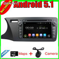 8''Quad Core Android 5.1 Car Radio GPS For CITY 2014 Left  for Honda With 16GB FLash Mirror Link Video DVD Stereo  Free Shipping