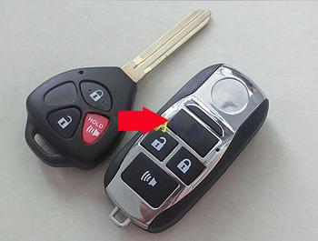 W celu uzyskania zaktualizowane składana klapka obudowa pilota bez kluczyka pokrowiec na toyotę Corolla RAV4 nowy Vios 3 przycisk etui na pilota tanie i dobre opinie Tibikoo China Plastic and copper-nickel alloy 0 02kg 3 Buttons Modified Flip Remote Key shell For Toyota Reiz RAV4 3 Button Modified Remote Key shell For Toyota