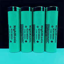 Original NIGHTKONIC 4 PCS/LOT 3.7V 2000mAh Li-ion 18650 Rechargeable battery GREEN fandyfire 3 7v 2000mah rechargeable 18650 li ion batteries yellow 2 pcs