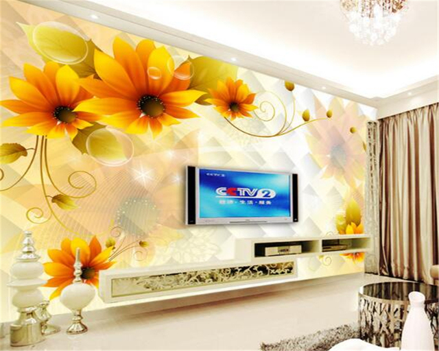 Beibehang 3d wallpapers large floral mural house decoration ...