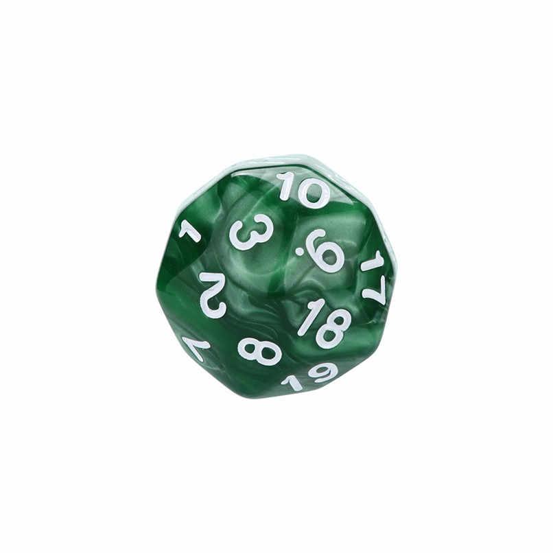 1 pcs Poliédrico Dados Digitais Para Jogo Dungeons & Dragons D30 Multi Faces Acrílico Dice Festa bar entretenimento brinquedos #2n23