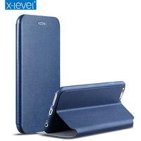 X Level Luxury PU Leather Flip Phone Cases For IPhone 6 6s 6 Plus 6s Plus