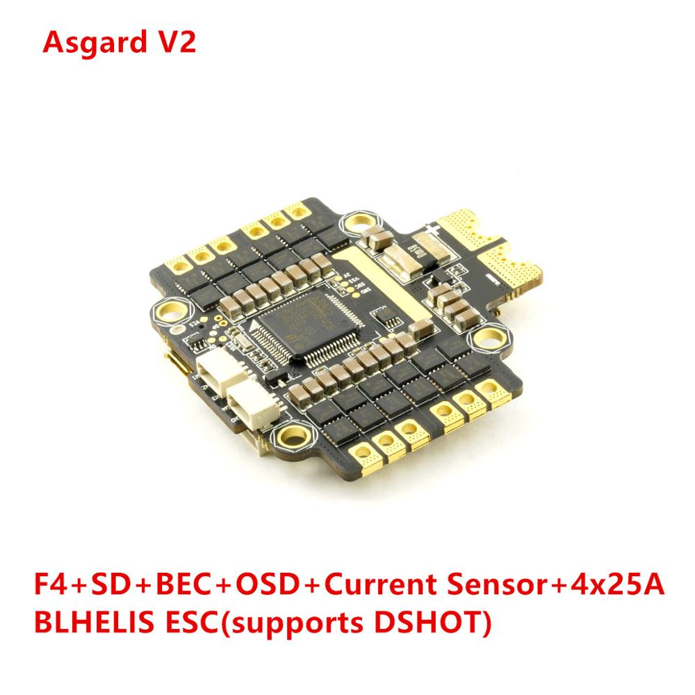 Asgard V2 OMNIBUS F405 AIO Flight Controller 4pcs BLHELI_S ESC on one PCB OSD SD Card Current Sensor BEC DSHOT J_H_15 Firmware  Asgard V2 OMNIBUS F405 AIO Flight Controller 4pcs BLHELI_S ESC on one PCB OSD SD Card Current Sensor BEC DSHOT J_H_15 Firmware