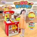 Nova chegada SUPER GRANDE!!! casa conjunto de cozinha simulação bebê ocidental restaurante de fast-food sobremesa com controle remoto toys presente