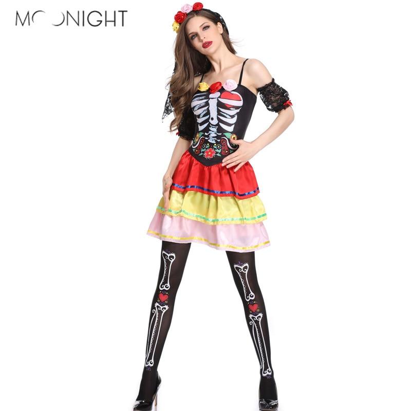 Zombie Jupe Noir Halloween Dead adultes femme accessoires costume robe fantaisie