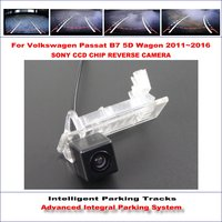 Intelligent Parking Tracks Rear Camera For Volkswagen VW Passat B7 5D Wagon 2011 2016 Reverse RCA