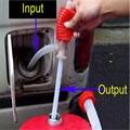 Bomba de Óleo de alta Qualidade Portable Carro Manual Siphon Mangueira de Combustível de Óleo Água Líquido de Transferência de Mão Bomba Otário Top Venda