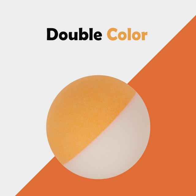 Один пакет Би Цветные мячи для настольного тенниса двойной цвет Seamed ABS 40 + шарики пластиковые мячи для пинг-понга прочные высокоэластичные 10 шт/20 шт