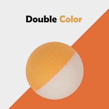 24f8e9099f Un paquete BI Color tenis de mesa doble Color costura ABS 40 + bolas  plástico Ping Pong bolas Durable -elástico 10 piezas 20 piezas