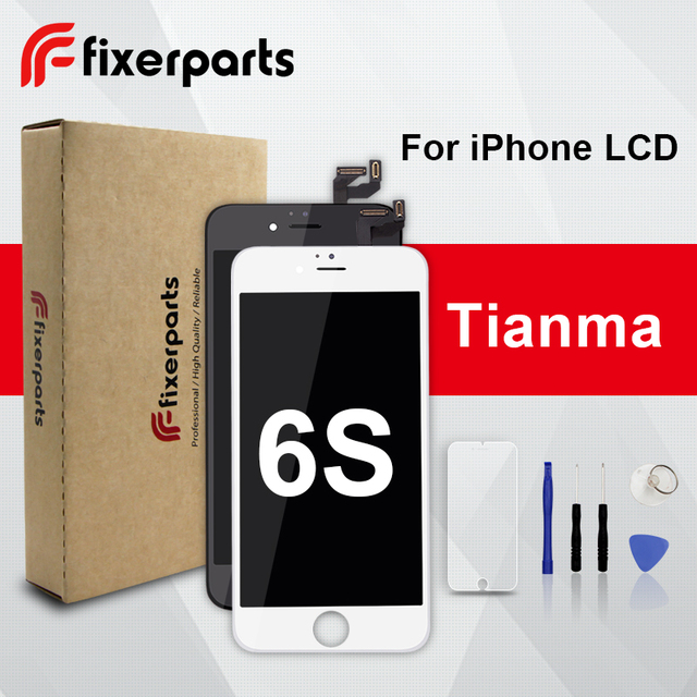 1pcs Grade TianMa LCD For iphone 6s Display Touch Screen Digitizer Replacement Full Assembly for iPhone 6s lcd With Phone Case