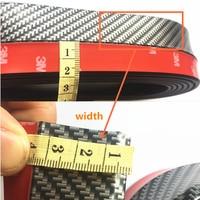 Car Protector Front Bumper Carbon fiber Rubber FOR kia rio k2 audi a4 b6 citroen c4 cruze nissan tiida golf 4 accessories