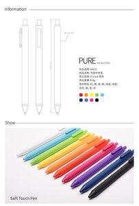 Image 5 - Ручка xiaomi mijia KACO pure 0,5 мм, 10 цветов, 20 цветов, гелевая ручка, мягкая сенсорная Подарочная коробка, цветные ручки