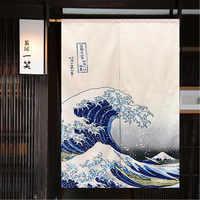 Фэн-шуй занавес Норен Маунтин Фудзи японский занавес дверной проем большая волна Hokusai Япония