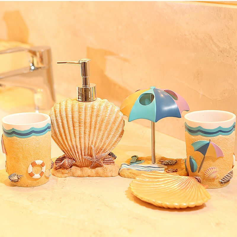 Interesting Bathroom Accessories 2014 Creative Products Summer Beach Subject Sets Soap Bottle And Decorating Ideas
