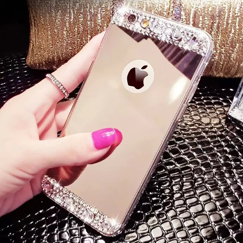 iphone 5s gold case for girls. aliexpress.com : buy konsmart luxury mirror diamond case for iphone 5s 5 se new rhinestone soft silicone back cover i5 coque phone cases from iphone 5s gold girls r