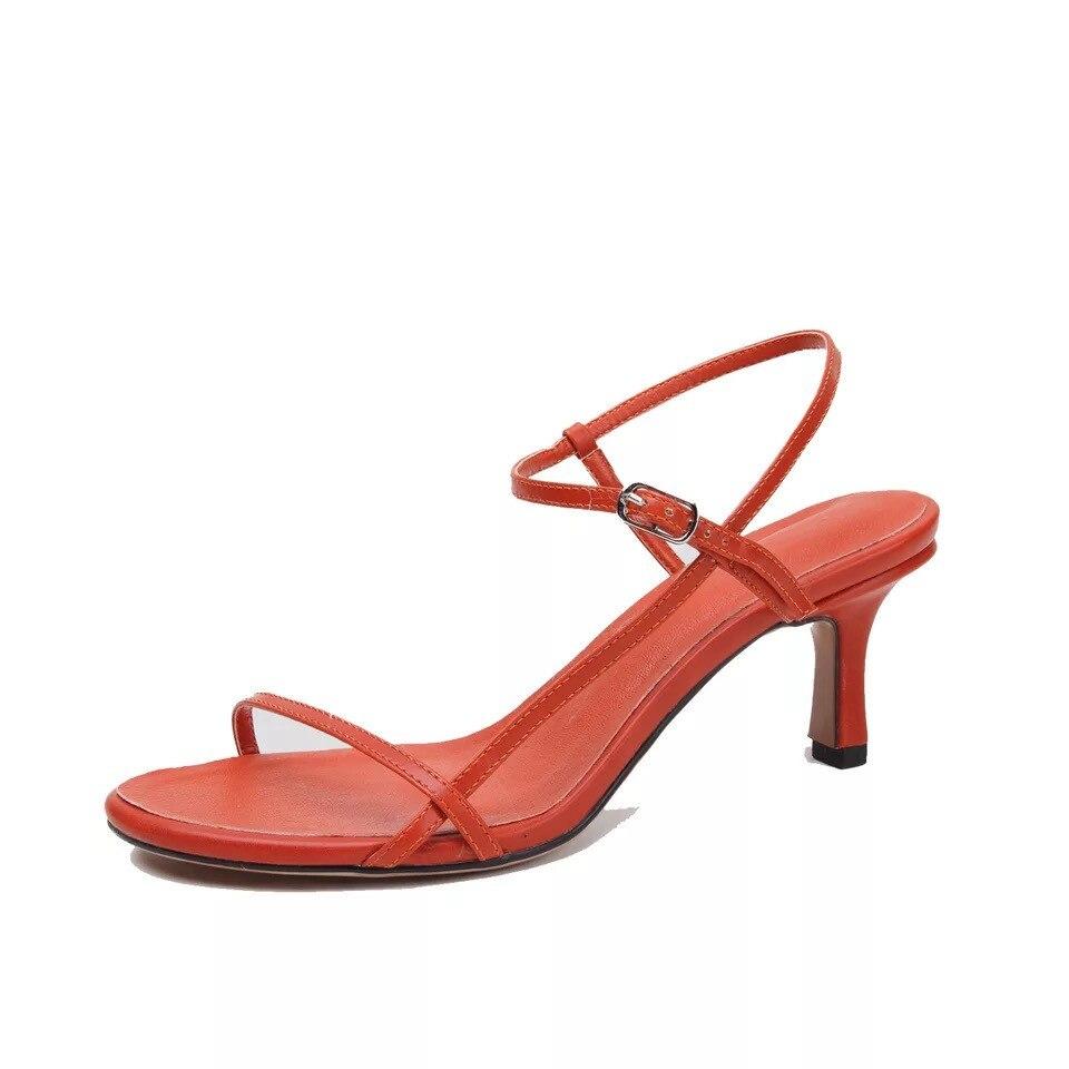 Talons Soirée Hauts Véritable black Ouvert Cuir Pour Femmes Talon Red 2019 Sandales À Pompes Chaussures blue Dames De Nouvelle Mince En Bout D'été Rome zXwUIq4