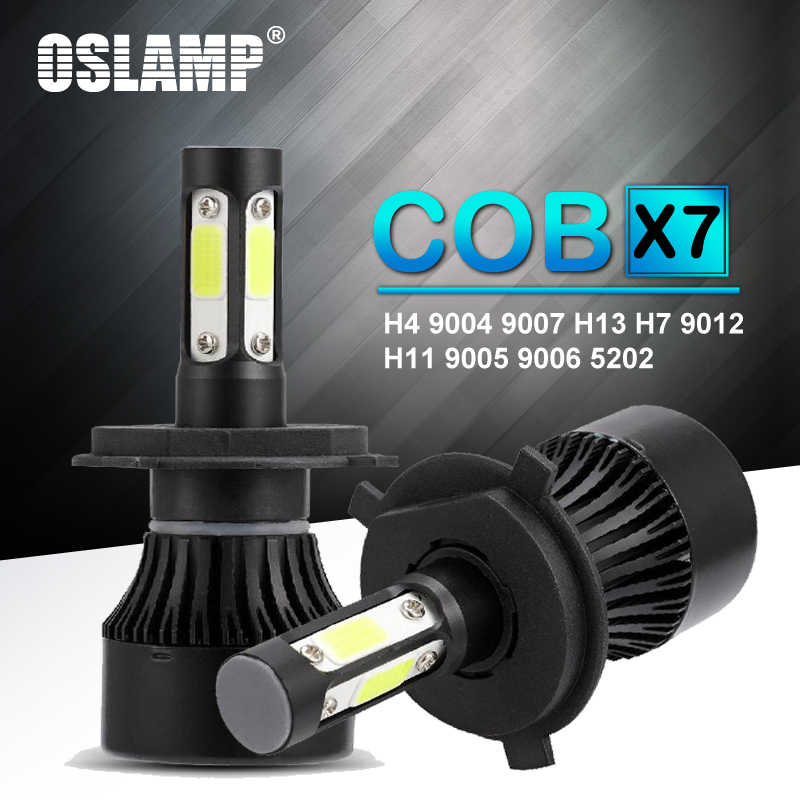 Oslamp 2Pcs H4 Led H7 H11 9004 9007 H13 9005 9006 9012 5202 Auto X7 Series Car Headlight Bulbs 100W 10000lm Auto Head Lamp 6500K