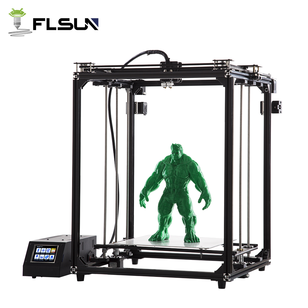 Flsun 3D Printer Pre-sales Plus Size 330*330*470mm Printing Area Touch Screen Dual Extruder Wifi Module Support Pre-Assembly 2018 flsun i3 3d printer diy kit dual nozzle touch screen large printing size 300 300 420mm two roll filament for gift