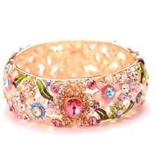 Модный Ретро этнический стиль дизайн кристалл украшение браслет подарок на день рождения свободные драгоценные камни W ювелирные изделия