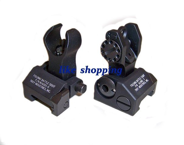 Front and Rear Folding Battle sight M4 Style black/tan