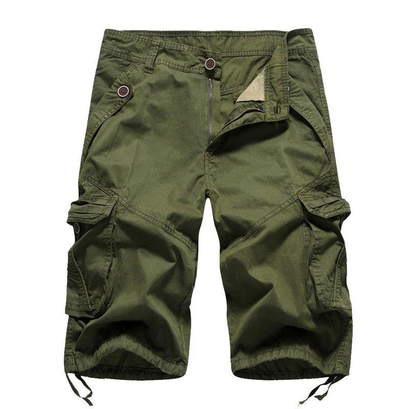 Laamei New 2018 Mens Cargo Shorts Casual Loose Short Pants Camouflage Military Summer Style Knee Length Plus Size 40 Shorts Men
