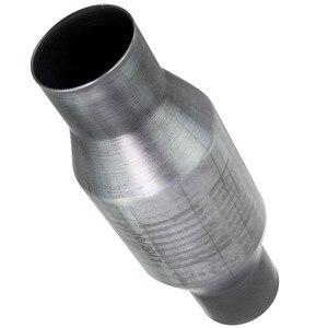 Image 2 - محول الحفاز العالمي 2.5 بوصة تدفق عالي T409 الفولاذ المقاوم للصدأ 410250 الفولاذ المقاوم للصدأ