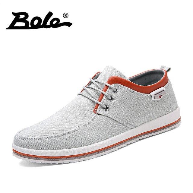 Боле Демисезонный дышащая мужская парусиновая обувь Для мужчин; Вулканизированная обувь на шнуровке мужские кроссовки 9908 классический Стиль парусиновая обувь Для мужчин