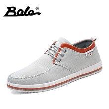 BOLE Spring Autumn Breathable Men Canvas Shoes Men's Vulcanized Shoes Lace-Up Men Sneakers Classic Style Canvas Shoes Men