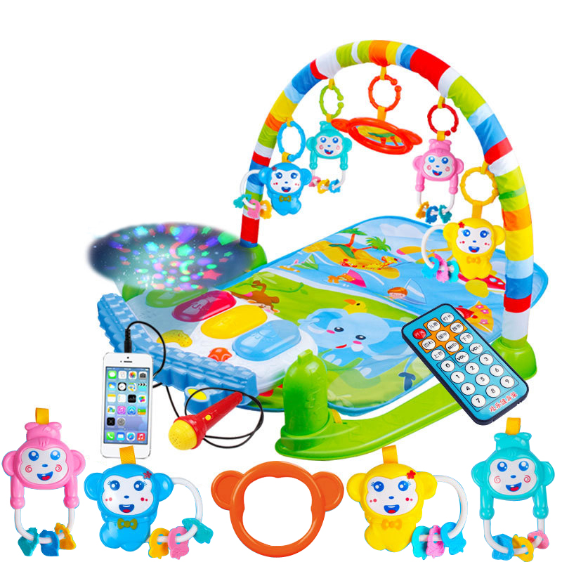 Baby Piano Music Play Mats Toys Kids Infant Sports Mats Gym Educational Rack Toys Activity Gym Toys Baby Soft Playmat 0-36Months