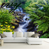 IVY MORDEN 3D Photo Wallpapers Waterfall And Flowers Large Custom Landscape Wall Papers For Walls Living