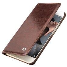 Naturalna skóra qialino etui do Huawei honor 9 ręcznie robiony portfel pokrowiec z klapką do Huawei honor 9 luksusowy ultra cienki futerał