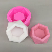 Ashtray Craft Silicone Aromatic Cement Plaster Pot Mold DIY Soap Making Silicon Mould