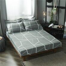 5ad730cba3 1 pcs 100% poliéster impresso sólido lençol capa de colchão quatro cantos  com elástico folha de cama