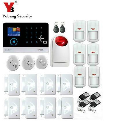 Yobang Security-IOS & android APP Control WIFI GSM Alarma Intrusion Safety&Fire Alarm Smoke Detector For Home Garden Security yobang security ios
