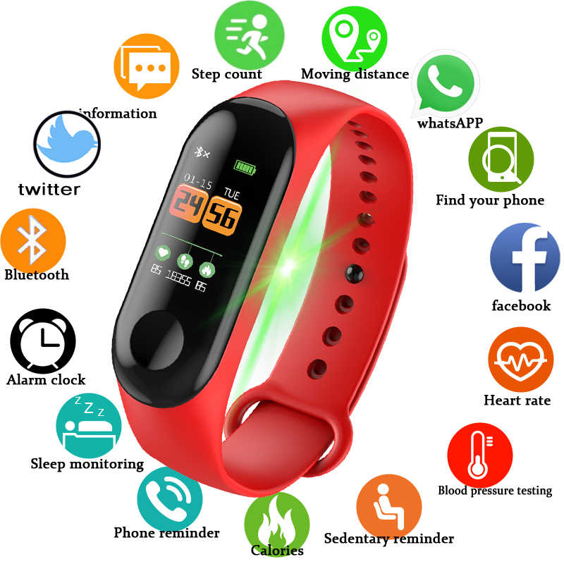High Quality Hotsale Women Men Sports Watch Bracelet Bluetooth Smart Heart Rate Running Tracker Waterproof Smart Bracelet Lovers