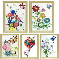 Paper Quilling Paper Assorted Multicolor Handcraft Origami DIY Home Decoration Pressure Relief Gift Manualidades Flowers Grass